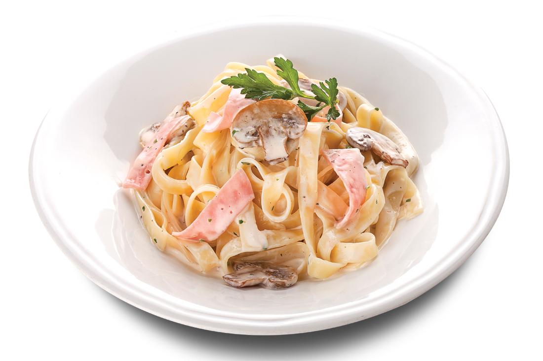 Фетучини с сыром и ветчиной в сливочном соусе рецепт